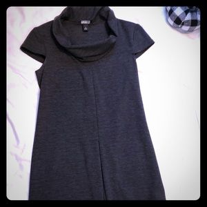ALYX SZ 4 dress mini shawl collar dark grey